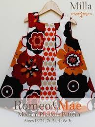 toddler sizes milla modern pinafore jumper dress sewing pattern