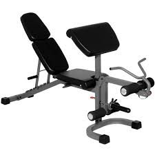 xmark flat incline decline weight bench with arm and leg developer