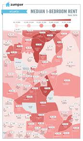 Chicago Neighborhood Map Poster by See The Cheapest And Most Expensive Atlanta Neighborhoods For