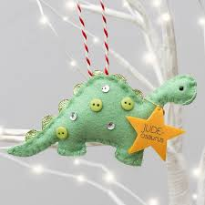 personalised dinosaur tree decoration by miss shelly designs