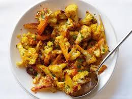 saffron roasted cauliflower recipe food network kitchen food