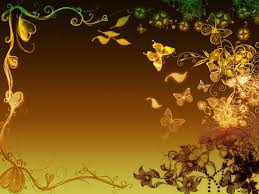 flowers butterflies border backgrounds 1024x768px for powerpoint