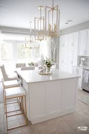 what color countertop goes with white cabinets our to white kitchen remodel before and after setting