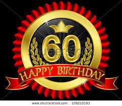 60 years birthday 60 years happy birthday golden label stock vector 109210193