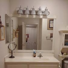 Bathroom Mirror Moulding Easy Way To Frame A Bathroom Mirror For 20 Boiling To The