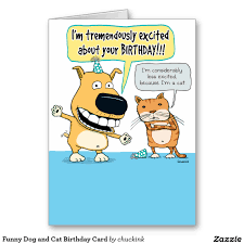 dog and cat birthday card