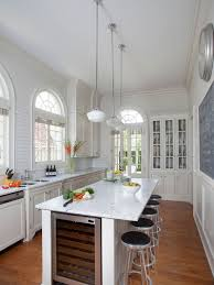 narrow kitchen island houzz