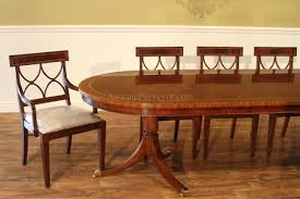 Dining Room Table For 10 by Formal Oval Inlaid Mahogany Dining Table With Leaves
