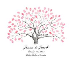 wedding tree fingerprint thumbprint tree guestbook alternative wedding tree
