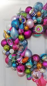 Pink Purple Blue Christmas Decorations by 24