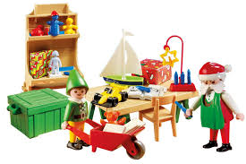 lighted santa s workshop advent calendar playmobil santa s workshop carrying case playset amazon co uk toys