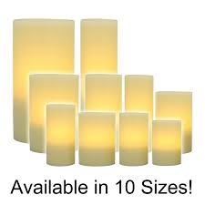 flameless pillar candles wax with timer pacific accents