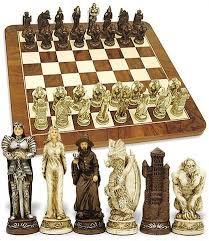 fantasy chess set fantasy chess set medieval chess set medieval dragons wizards