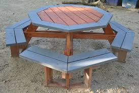 free octagon picnic table plans and drawings the advantageous