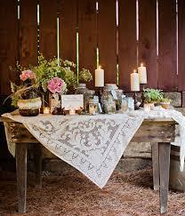 rustic wedding decoration tulle chantilly wedding
