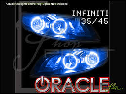 03 08 infiniti fx35 fx45 led dual color halo rings headlights bulbs