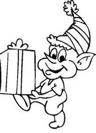 cute christmas elf coloring pages yahoo image results