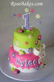 ladybug birthday cake behance