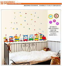 urijk animal circus train children diy removable wall stickers