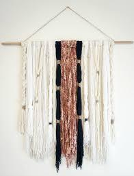 hanging picture diy modern boho yarn wall hanging dahlias and dimes