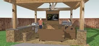 Outdoor Kitchen Design Plans Free Outdoor Kitchen Design Plans Pictures With Enchanting Designs 2018