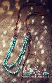 leather turquoise necklace images Whiskey river turquoise stone and leather western necklace jpg