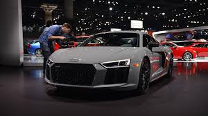 audi r8 exclusive edition uses its laser beams to light up l a