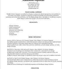 Resume For Interior Design Internship Download Interior Design Resumes Haadyaooverbayresort Com