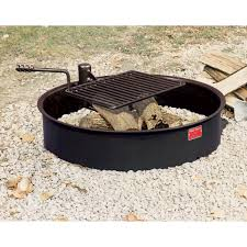 Firepit And Grill by Fire Pit Ring With Grill Fire Pit Design Ideas
