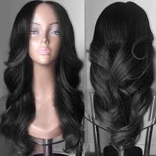 long black hair with part in the middle synthetic wigs black long middle part colormix wavy synthetic wig