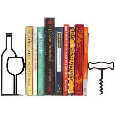more wine less whine bookends the literary gift company