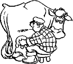 milking coloring pages kids milking coloring pages