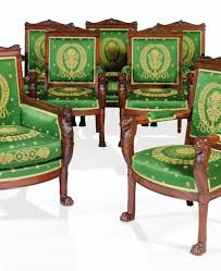 1803 181 empire carved mahogany suite of carved mahogany chairs