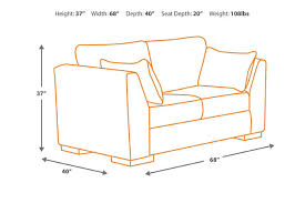 Dimensions Of A Couch Pierin Loveseat Ashley Furniture Homestore