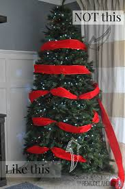 Decorated Christmas Tree Pictures With Ribbon by Christmas How To Decorate Christmas Tree Withbbon Picture