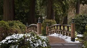 bridge in winter at portland japanese garden mapio net