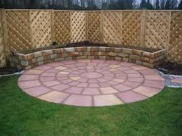 Circular Patio Kit by Stone Circles Yellow Granite Stone Circles Pink Sandstone Circles