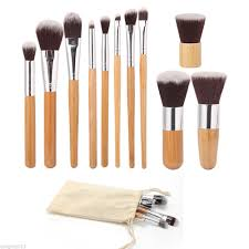 bamboo 11pcs professional makeup brush set u2013 best beauty buys