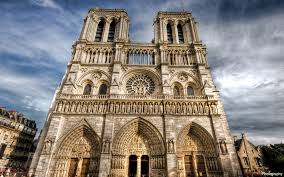 notre dame cathedral flying buttresses wallpaper