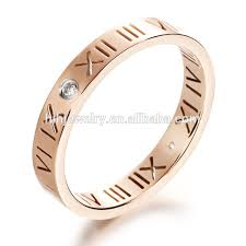 numeral ring fancy woman numeral ring with cz stones jewelry wholesale