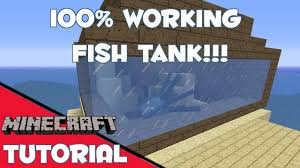 Minecraft Furniture Ideas Pe Minecraft Fish Tank Fixed Youtube