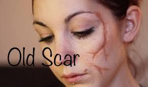 halloween scar makeup