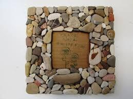 beach rock frame 3 5 x 3 5 rustic beach frame stone art