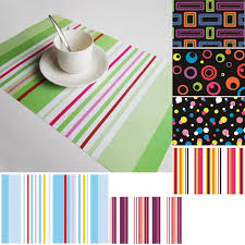 table mats and coasters 4 pcslot stripe pp dining table placemats coasters disc pads bowl