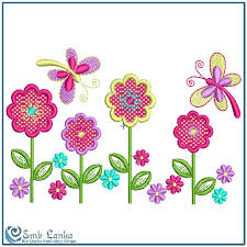 applique flowers and butterflies embroidery design emblanka com