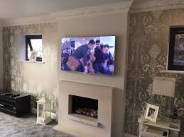 tv above gas fireplace