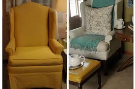 Fabric Paint For Upholstery Before And After How To Paint An Upholstered Chair