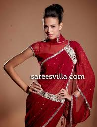 high neck saree blouse designs sarees villa
