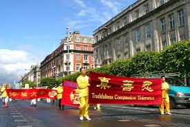 Flag Of Dublin Ireland Dublin Ireland Practitioners Hold Parade To Celebrate World