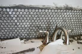 Penny Tile Kitchen Backsplash Penny Tile Bathroom Backsplash Ellis U0026 Page